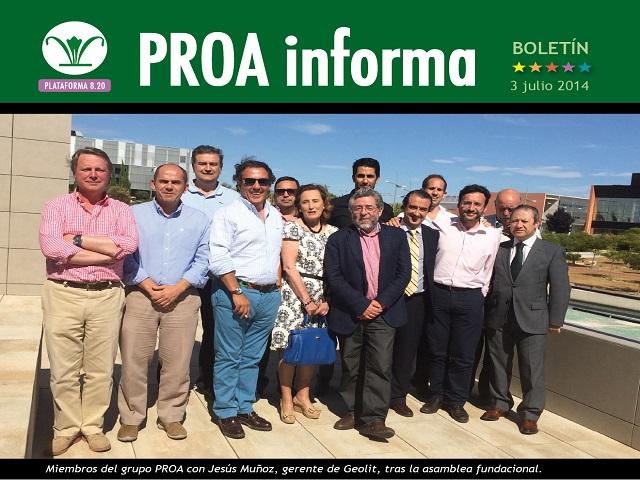 Boletín nº1 PROA informa